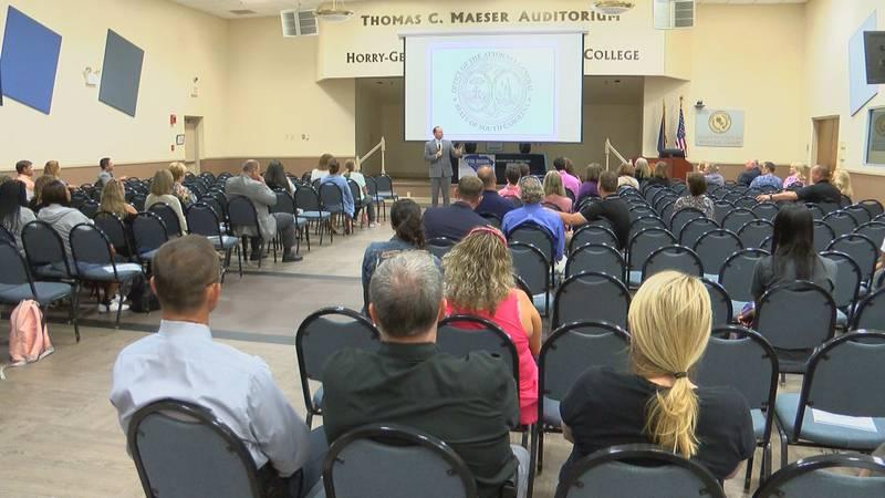 South Carolina Attorney General Alan Wilson speaks at Coastal Regional Human Trafficking Task...