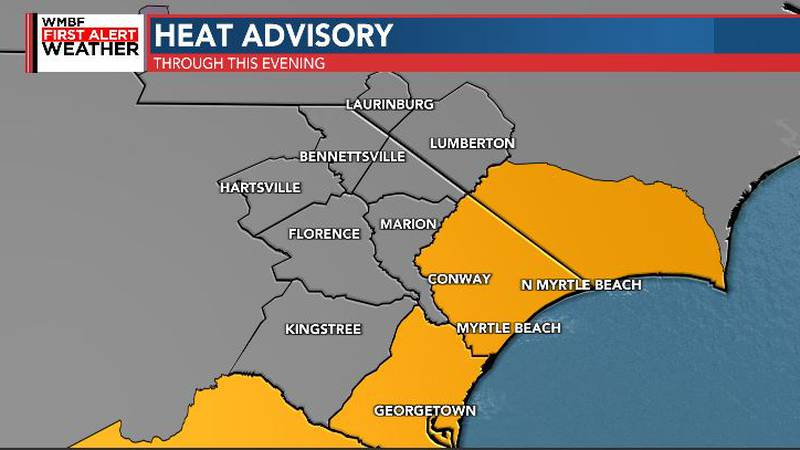 Heat Advisory until 7pm tonight.