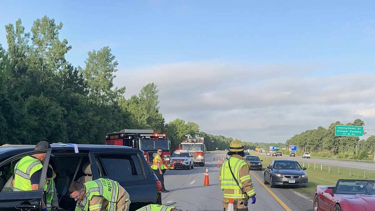 A multi-vehicle crash is slowing traffic Friday morning in the Myrtle Beach area.