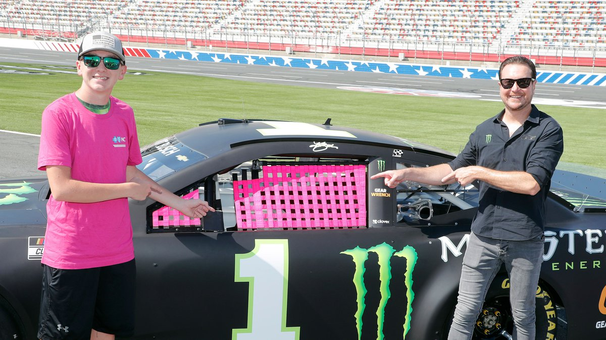 Busch and a fan named Mason also unveiled the Window of Hope pink window net.