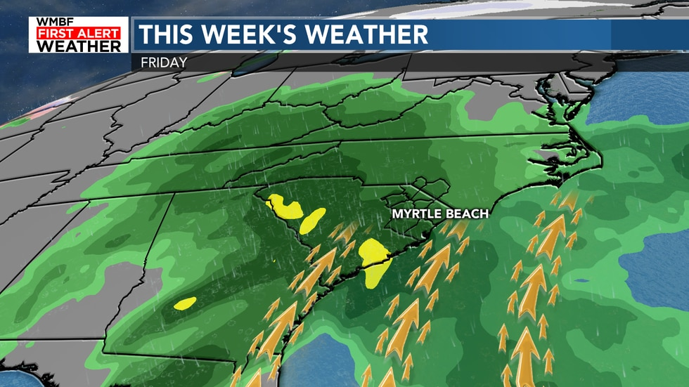 The next system after Wednesday brings rain chances later on Friday and into Saturday.