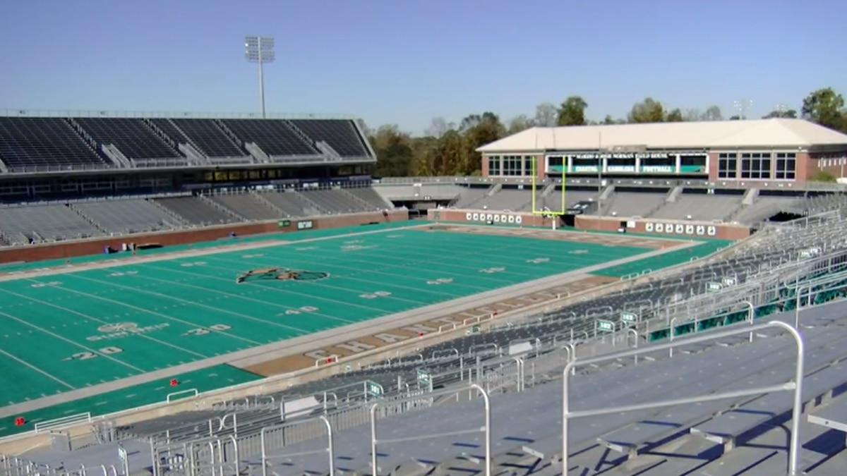 Brooks Stadium is home to the Coastal Carolina Chanticleers football team.