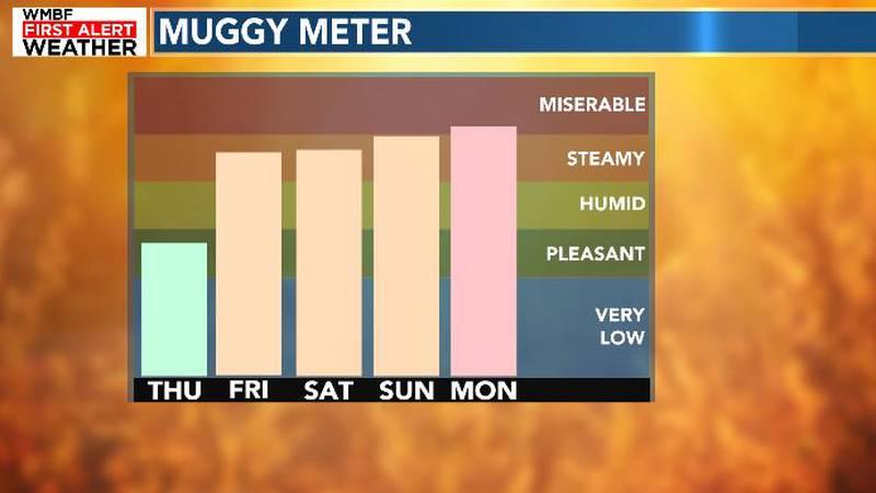 Humidity returns