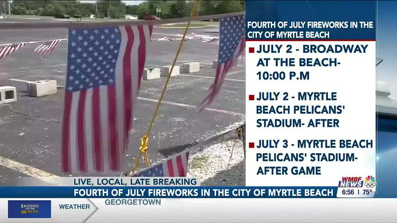 Myrtle Beach releases list of official fireworks shows for July 4 weekend