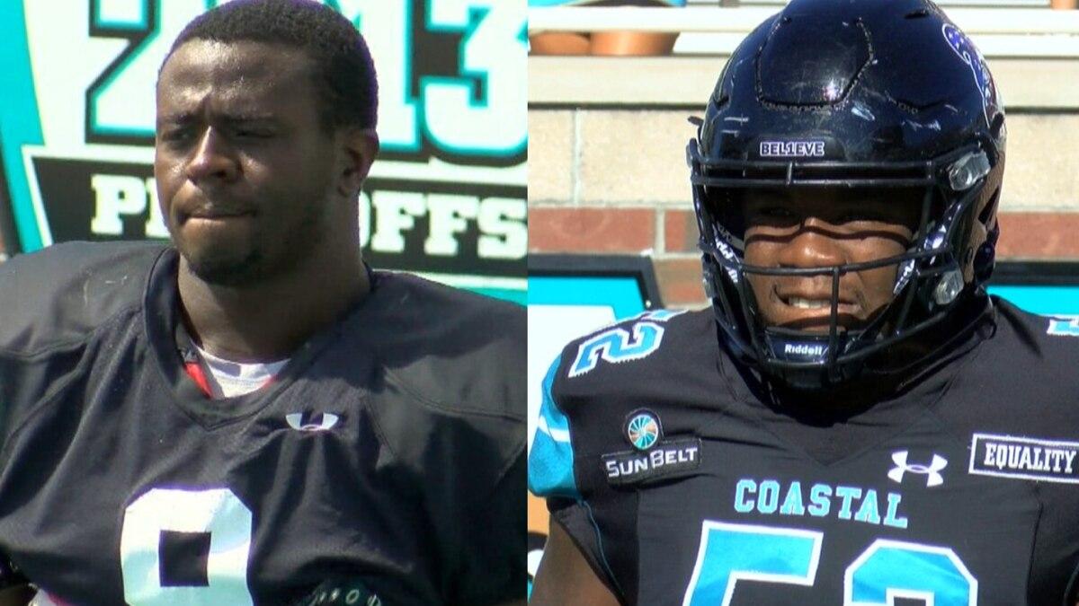 Coastal's Tarron Jackson and CJ Brewer