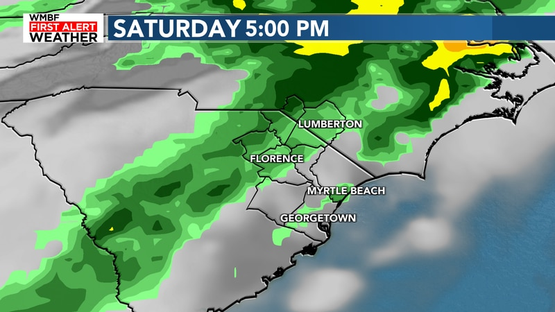 Best chance of rain arrives late Saturday