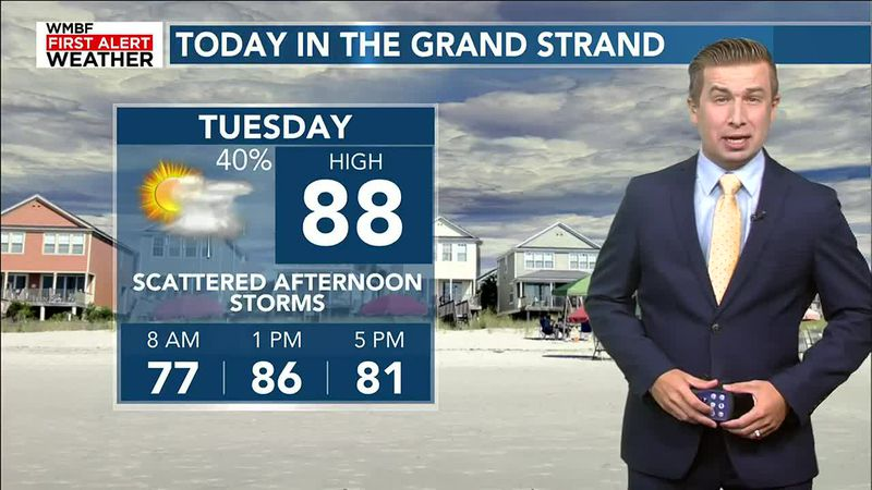 Storm chances return this afternoon, relief arrives midweek