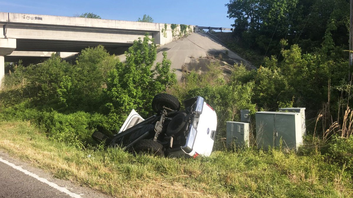 The rollover happened around Highway 90 at Mt. Zion Road.