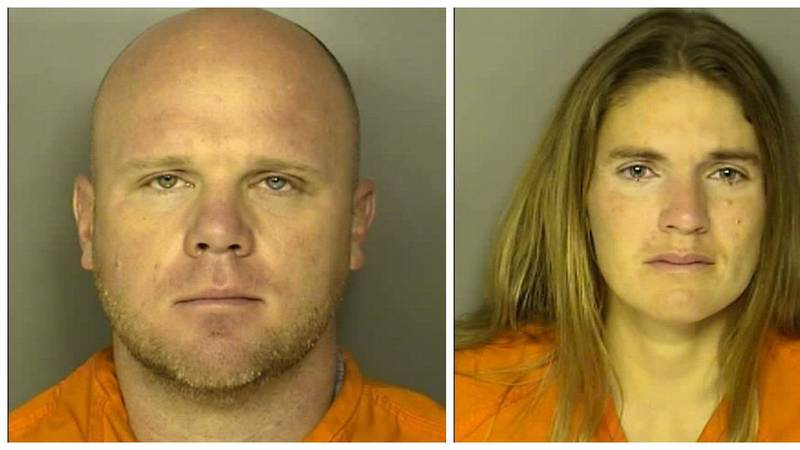 Chris Dontell (left) and Meagan Jackson are both charged in connection to the murder of Greg...