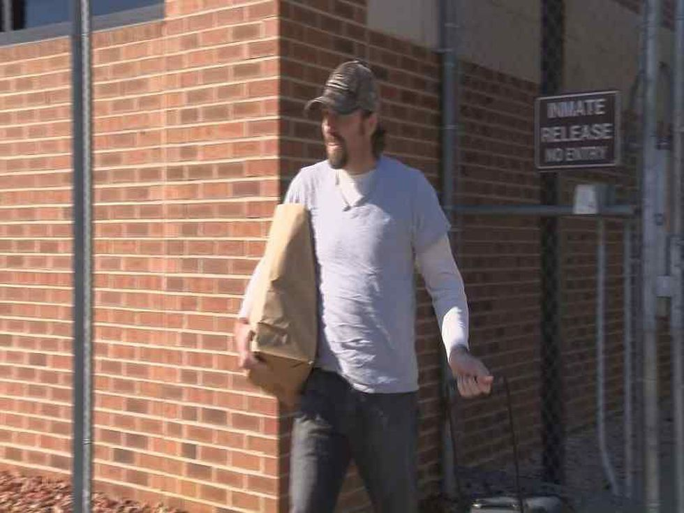 Sidney Moorer walking out of jail in February 2015 after being released on bond. (Source: WMBF...