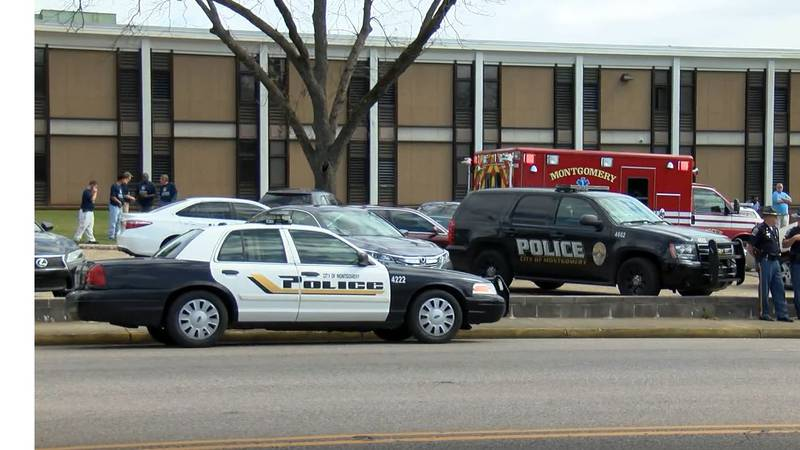 Photos from a shooting on the campus of Robert E. Lee High School in Montgomery, Alabama.