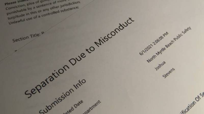 Separation due to misconduct