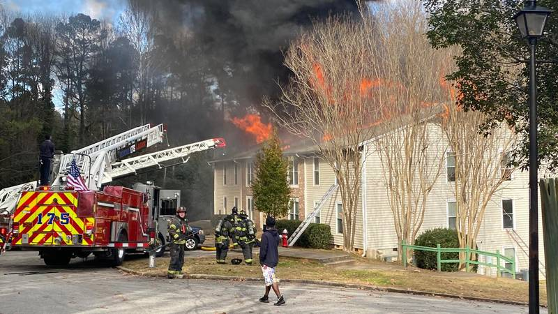 The fire started around 1 p.m. Wednesday at the River Oaks Apartments in the 5300 block of Bush...