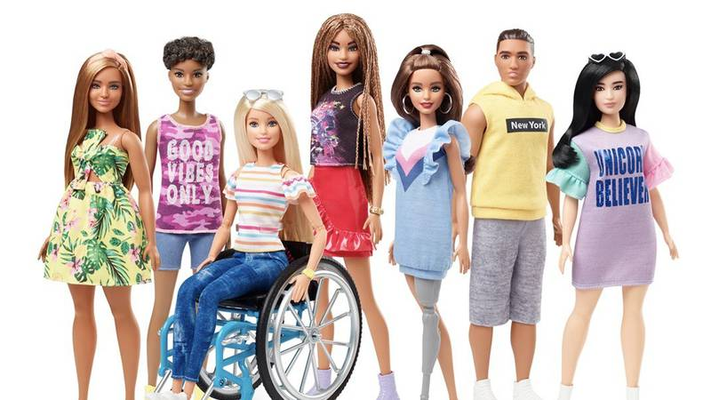 The new dolls are part of the Barbie Fashionistas line, which features dolls with a growing...