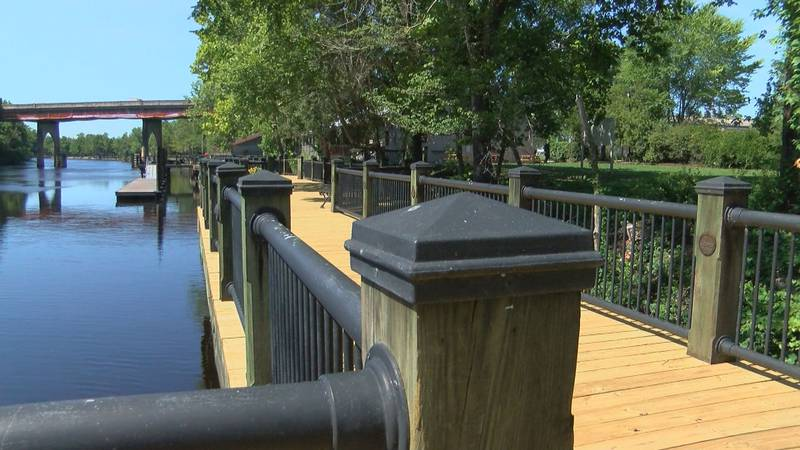 Decking replacement is complete on the Riverwalk in Conway.