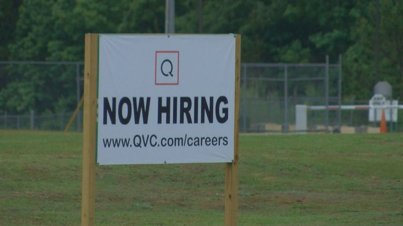QVC now hiring sign