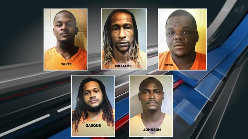 Authorities arrested Antwan Jamale White, Kadeem Denzal Williams, Edward Tyrone Pipkin III,...