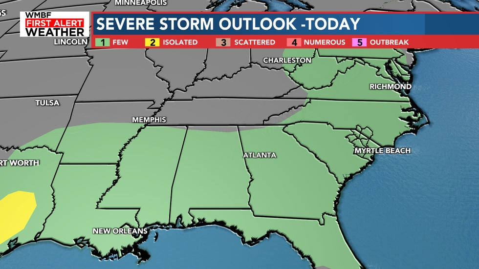 The SPC just added the entire state to a level one severe weather risk for today.