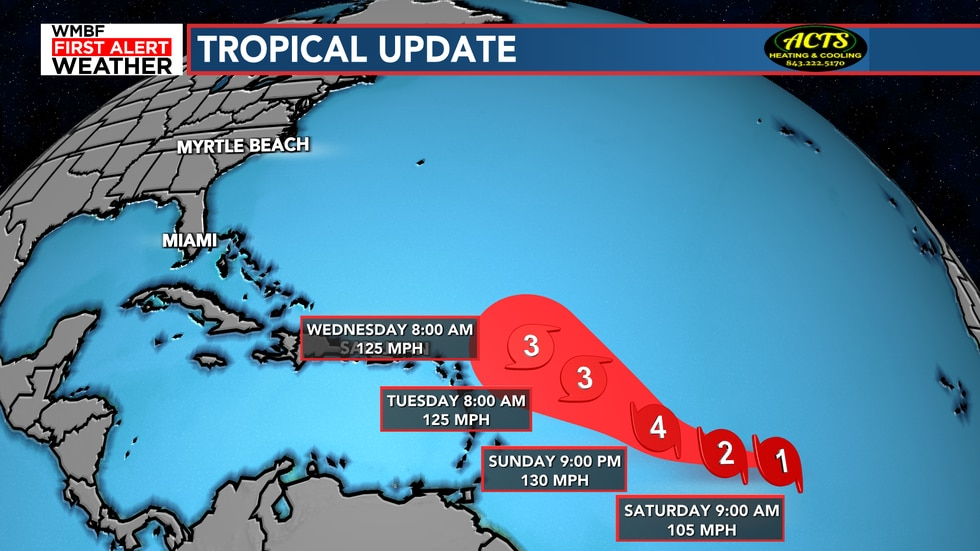 Sam will become a major hurricane this weekend.