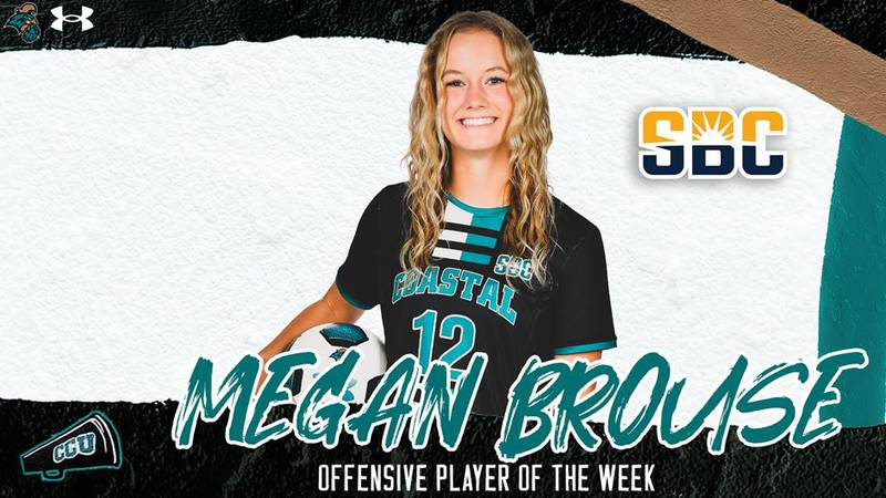 CCU junior Megan Brouse recorded her first-career hat trick last Friday.
