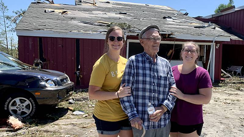 85-year-old Robert Mixon had just gotten out of bed moments before the roof collapsed where he...