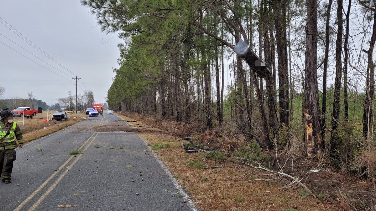 One person was injured in a single-vehicle crash Monday afternoon in the Aynor area.
