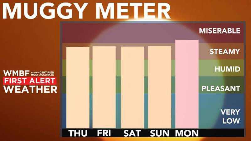 High humidity remains in place.
