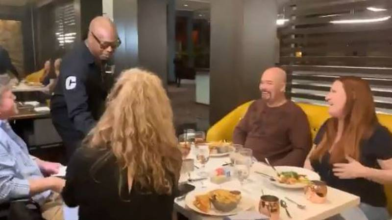 Not only did Chappelle hand-deliver the tickets, he sat down to chat with the couple and took...