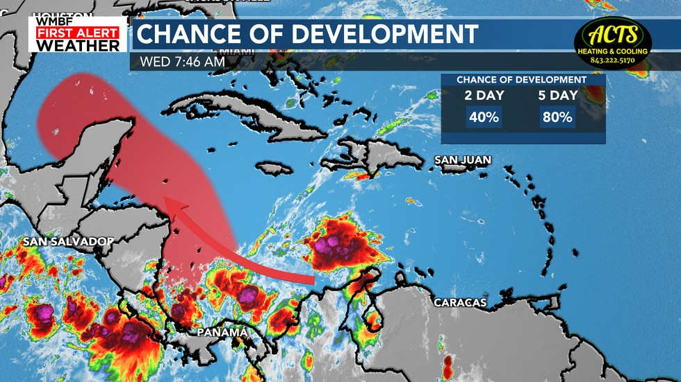 There is a high chance of development with this system and a tropical depression is expected to...