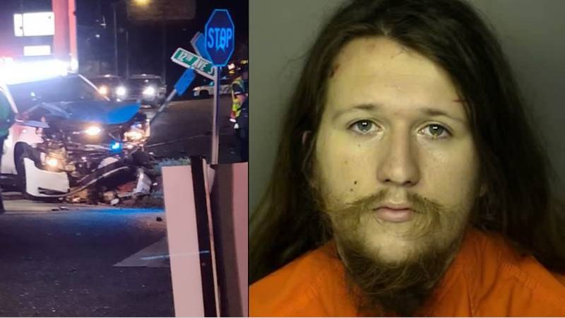 Edward Grant King is charged with DUI after a crash involving a Myrtle Beach patrol vehicle...