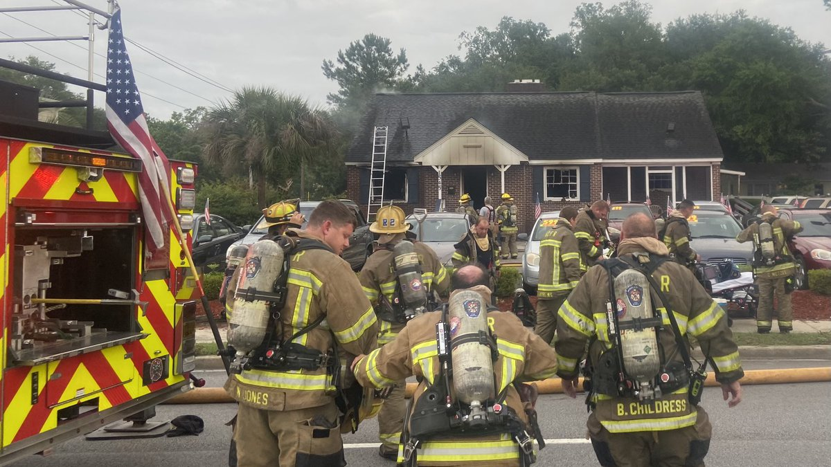One firefighter was hurt during a structure fire Sunday morning in Little River.