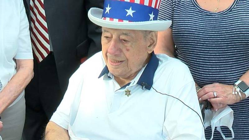 WWII Veteran Anthony Grasso arrived Thursday in Charleston. He will travel to Camden Friday to...