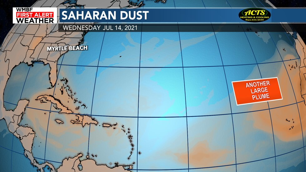 Another large plume of dust will continue to move off Africa next week. Great news for no...