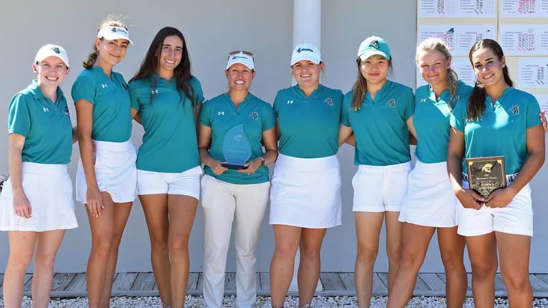 CCU women's golf team.