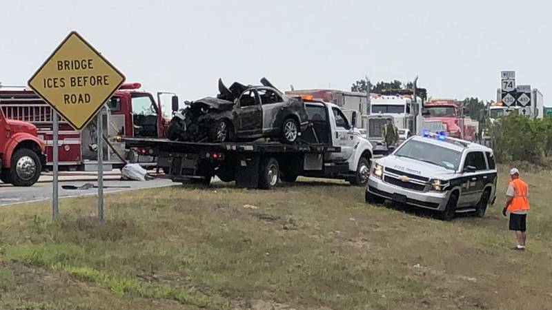 Emergency crews in Columbus County are responding to a two-vehicle crash involving a...