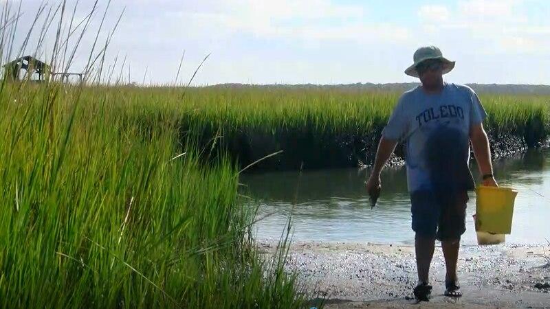 Steve Korawleski goes crabbing during his annual vacation in Pawleys Island.