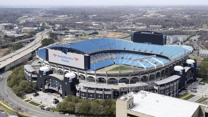 At least a portion of a Carolina Panthers game at Bank of America Stadium could be watched from...