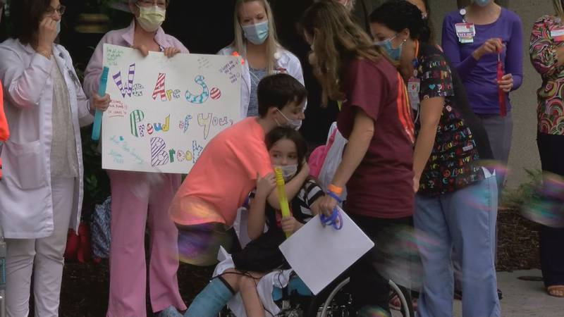 Brooke Hoover, 8, was impaled by a tree and suffered multiple fractures, as well as internal...