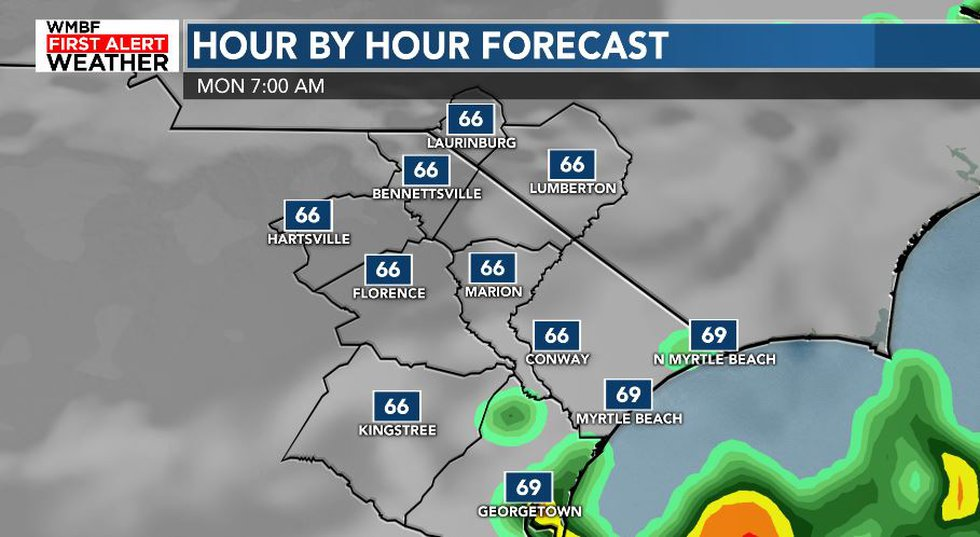 Lingering showers and mild temperatures