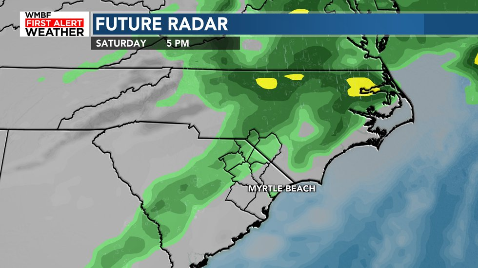Our cold front will slide through this weekend bringing rain chances and cooler weather to the...