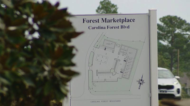 """""""Forest Marketplace"""" will be located along Carolina Forest Boulevard in front of the Haven..."""
