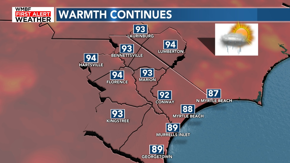 It's another warm day today with a heat index in the upper 90s to lower 100s. Look for highs to...