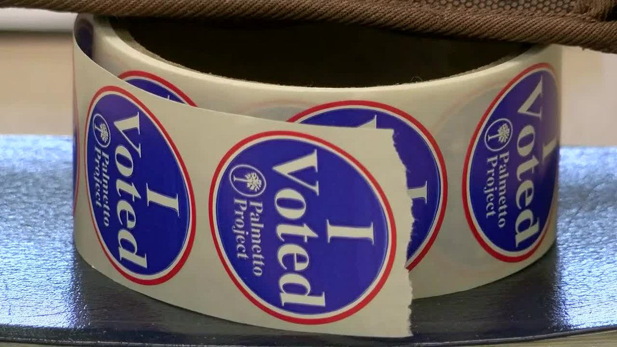 I Voted stickers as residents voted on the FSD1 school referendum (WMBF News)