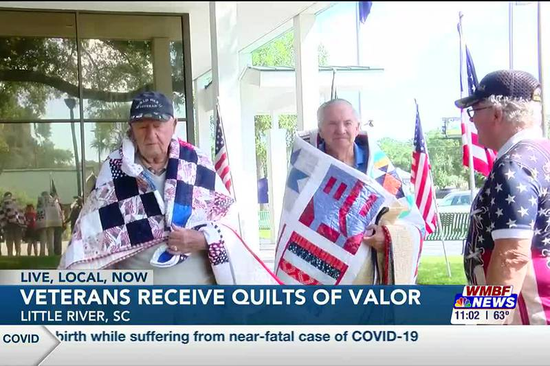 Grand Strand WWII, Vietnam veterans receive Quilts of Valor
