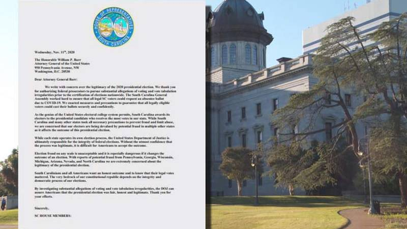 Dozens of Republican South Carolina House members have signed a letter sent to U.S. Attorney...