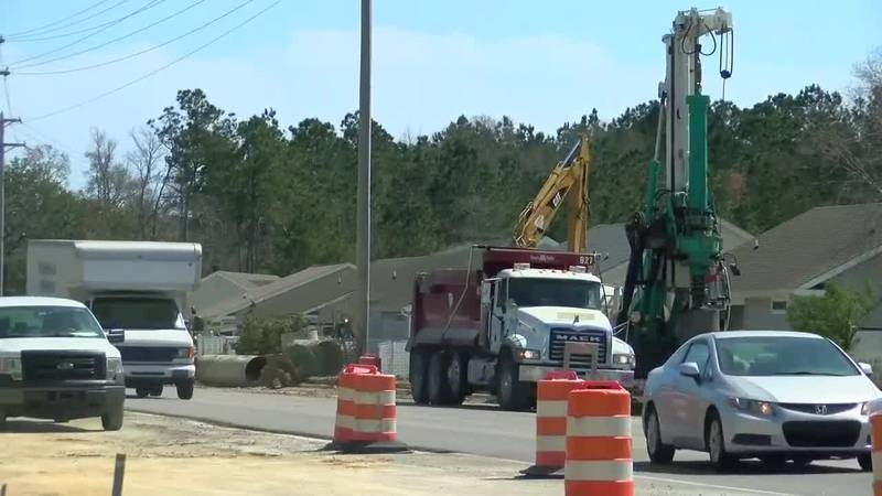 Highway 707 construction (Source: WMBF News)