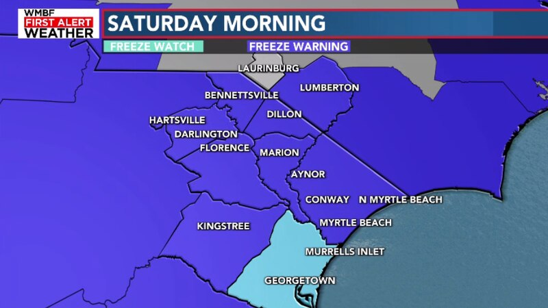 Widespread frost likely Saturday morning