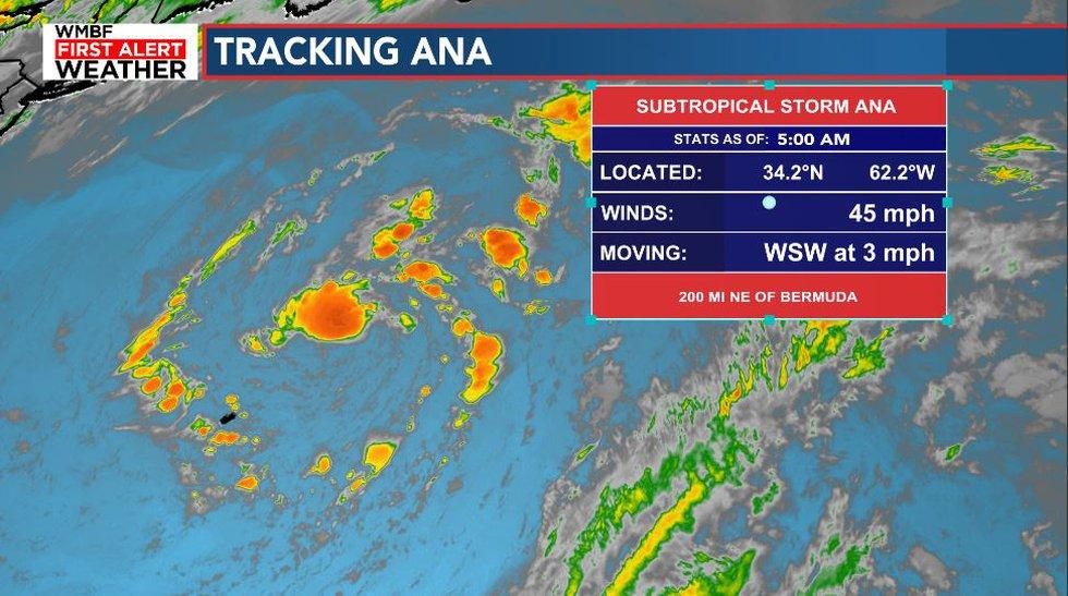 Subtropical Storm Ana