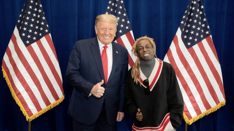 New Orleans rapper Lil Wayne meets with Trump, gives endorsement of 'Platinum Plan'