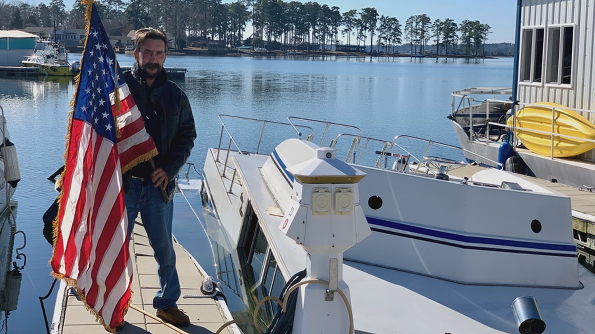 Robert Simpson, 49, served seven years in the United States Navy as a welder and was part of...